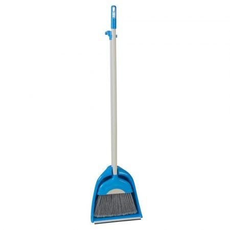 Seprű+szemétlapát kék 110cm