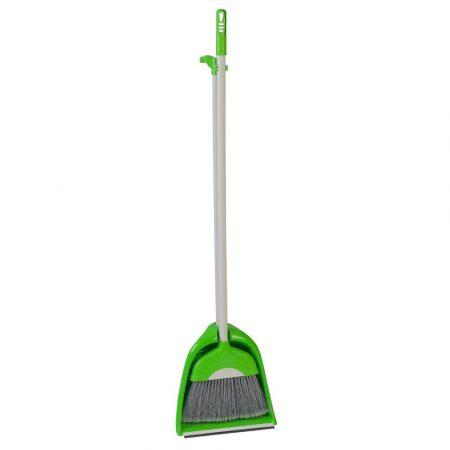 Seprű+szemétlapát zöld 110cm