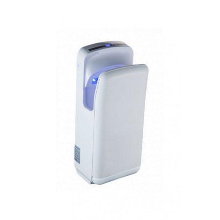 Kézszárító légpengés, kézbedugós, fehér műanyag 1900W Alpha