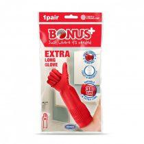 Bonus Gumikesztyű M-es extra hosszú 50csg/karton