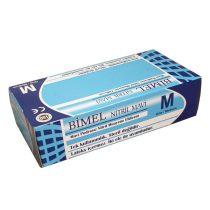 """Bimel Nitril vizsgáló kesztyű, púdermentes, kék """"M"""" 100 db/doboz"""