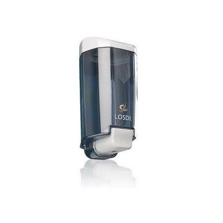 Losdi folyékony szappan adagoló átlátszó 0,9 literes, utántölthető, ABS műanyag