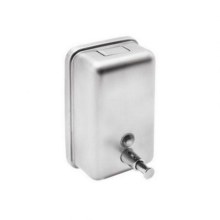 Rozsdamentes acél folyékony szappan adagoló, 1 literes, fényes, utántölthető