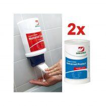 Dreumex Universal protect One2Clean 2x1,5L kézvédő krém + manuális adagoló