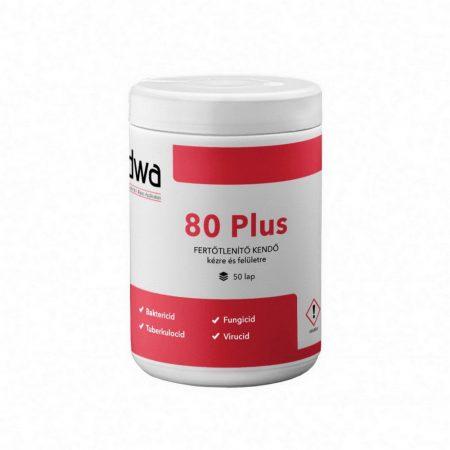 DWA 80 Plus nedves kéz- és felületfertőtlenítő törlőkendő dobozos 50 lap