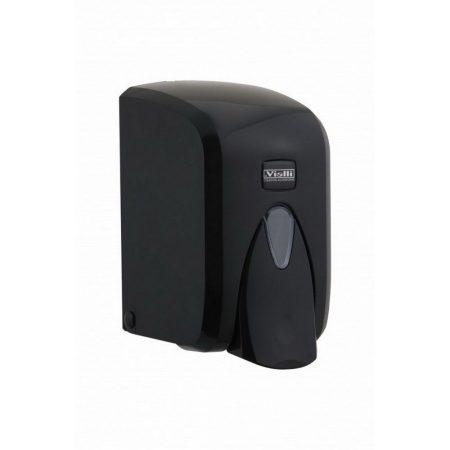 Vialli habszappan adagoló, ABS műanyag, fekete, 500 ml utántölthető