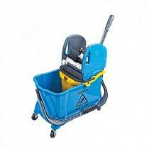 Takarítókocsi, műanyag vázas, kék, 24 literes