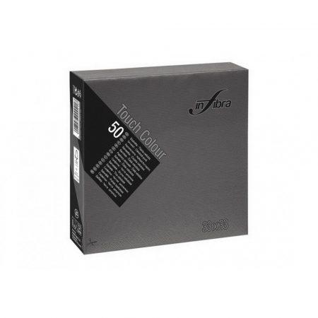 Infibra Szalvéta 33x33cm fekete 2réteg 50lap/csg 24csg/karton 56kart/rl