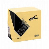 Infibra Szalvéta 25x25cm krém  2 réteg 100 lap/csomag (30 csomag/karton)