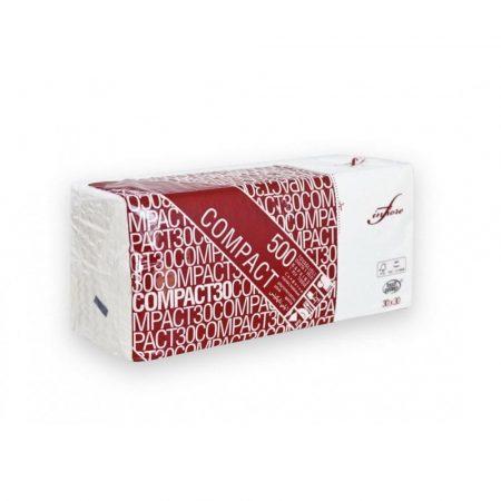 Infibra Szalvéta Compact 1réteg fehér 30x30cm 500l/csg 14csg/karton 28/raklap