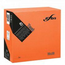 Infibra Szalvéta 38x38cm Narancs 2 réteg 40 lap/csomag (36 csomag/karton)