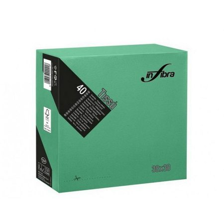 Infibra Szalvéta 38x38cm Sötétzöld 2 réteg 40 lap/csomag (36 csomag/karton)