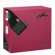 Infibra Szalvéta 38x38cm Bordó 2 réteg 40 lap/csomag (36 csomag/karton)