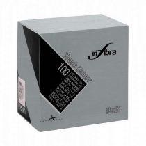 Infibra Szalvéta 25x25cm szürke  2 réteg 100 lap/csomag 30 csomag/karton