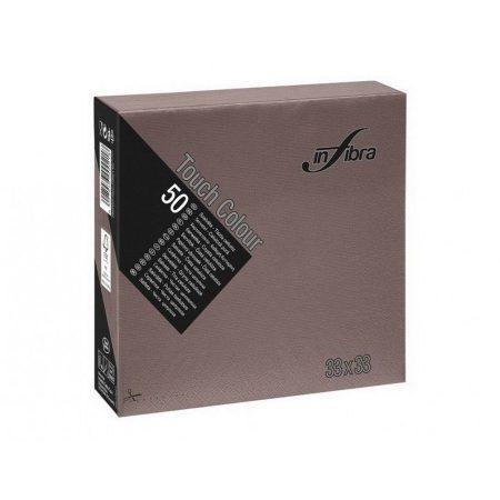 Infibra Szalvéta 33x33cm csokoládébarna 2 réteg 50 lap/csomag 24 csomag/karton