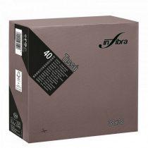 Infibra Szalvéta 38x38cm csokoládé barna 2réteg 40lap/csg 36csg/karton 24kart/rl
