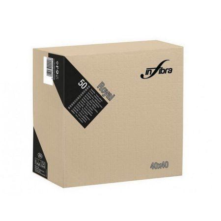 Infibra Szalvéta 40x40cm Greige 4 réteg 50 lap/csomag (24 csomag/karton)