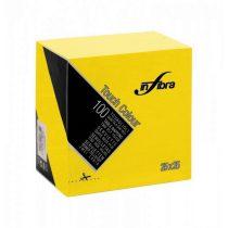Infibra Szalvéta 25x25cm citromsárga 2 réteg 100 lap/csomag 30 csomag/karton