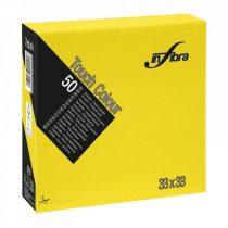 Infibra Szalvéta 33x33cm citromsárga 2réteg 50lap/csg 24csg/karton 56kart/rl