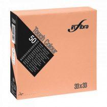 Infibra Szalvéta 33x33cm barack 2 réteg 50 lap/csomag 24 csomag/karton