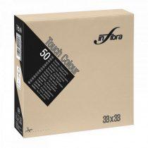 Infibra Szalvéta 33x33cm Greige 2 réteg 50 lap/csomag 24 csomag/karton