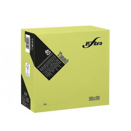 Infibra Szalvéta 38x38cm Lime Zöld 2 réteg 40 lap/csomag (36 csomag/karton)