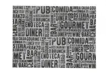 Infibra tányéralátét Gourmet mintás 30x40cm, 250 darab/csomag