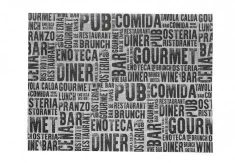 Infibra tányéralátét Gourmet mintás 30x40cm, 250db/cs, 8cs/krt