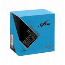 Infibra Szalvéta 25x25cm türkiz  2 réteg 100 lap/csomag 30 csomag/karton