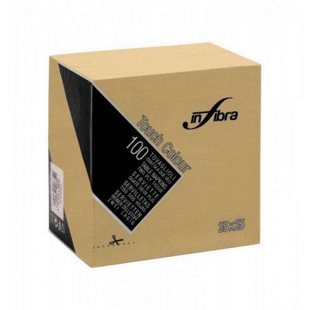 Infibra Szalvéta 25x25cm kapucsinó  2 réteg 100 lap/csomag 30 csomag/karton