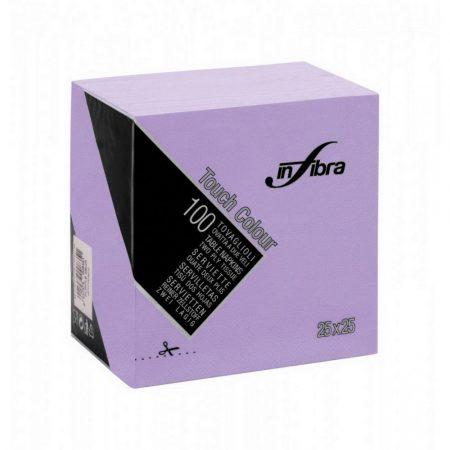 Infibra Szalvéta 25x25cm lila  2 réteg 100 lap/csomag 30 csomag/karton