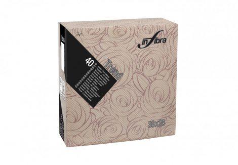Infibra Szalvéta 38x38cm Bouquet bordó 2 réteg 40 lap/csomag (18 csomag/karton)