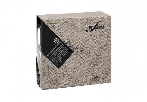 Infibra Szalvéta 38x38cm Bouquet kakaó 2 réteg 40 lap/csomag (18 csomag/karton)