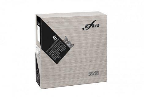 Infibra Szalvéta 38x38cm Trend kakaó barna 2 réteg 40 lap/csomag (18 csomag/karton)