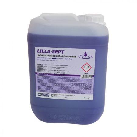 LILLA SEPT fertőtlenítő kéztisztító, illatmentes 5L