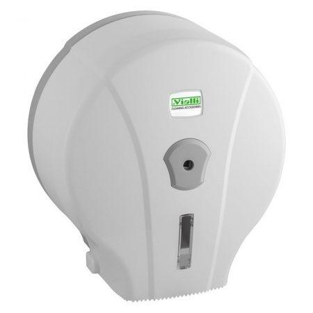 Vialli mini 19cm-es toalettpapír adagoló ABS műanyag, fehér