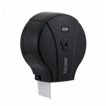 Vialli Mini 19cm-es toalettpapír adagoló ABS műanyag, fekete