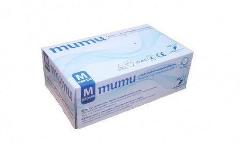 MUMU egyszerhasználatos latex fehér M, 100 db-os, 20 (doboz/karton)