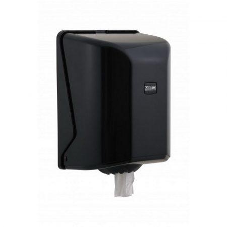 Vialli maxi tekercses kéztörlő adagoló ABS fekete