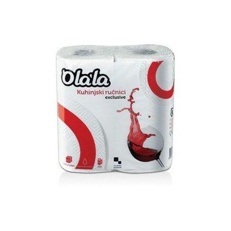 Olala konyha kéztörlő 3 rétegű fehér 2x70lap, 15 csomag/zsák