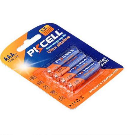 PKCELL Alkaline elem AAA LR03 4darab