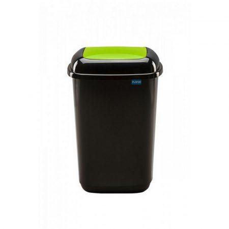 Plafor Quatro rugós  billenő fedeles szemetes 45L fekete/zöld