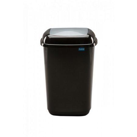 Plafor Quatro rugós  billenő fedeles szemetes 45L fekete/ezüst