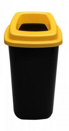 Plafor Sort szelektív hulladékgyűjtő, szemetes 45L fekete/sárga