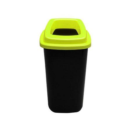 Plafor Sort szelektív hulladékgyűjtő, szemetes 45L fekete/zöld