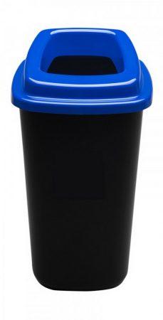 Plafor Sort szelektív hulladékgyűjtő, szemetes 45L fekete/kék