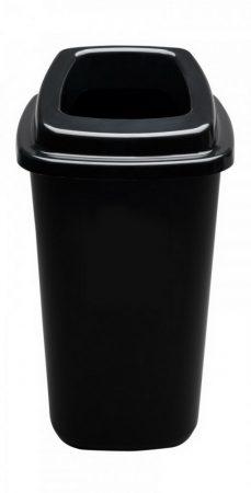 Plafor Sort szelektív hulladékgyűjtő, szemetes 45L fekete/fekete