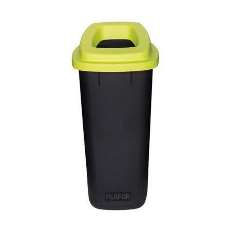 Plafor Sort szelektív hulladékgyűjtő, szemetes 90L fekete/zöld