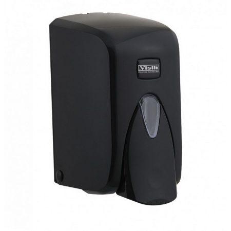 Vialli folyékony szappan adagoló, zárható, ABS műanyag, fekete 500 ml