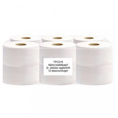ALPHA Toalettpapír 19cm 2réteg cellulóz 105m 12tekercs/zsugor, 65 zsugor/raklap